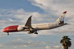 Norwegian Air UK Paco de Lucia Livery 787-900 Dreamliner (G-CKOG) LAX Approach 4 (hsckcwong) Tags: norwegianairuk norwegianair pacodelucialivery 787900 7879 787 dreamliner gckog lax klax