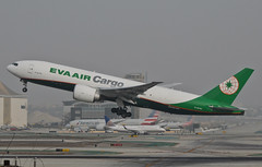 EVA Air Cargo 777-F5E (B-16785) LAX Takeoff 2 (hsckcwong) Tags: evaaircargo evaair 777f5e 777f 777freighterb16785 lax klax