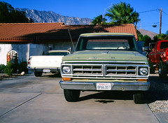 Palm Springs, California (bior) Tags: palmsprings pentax645nii velvia mediumformat 120 yard driveway truck car ford