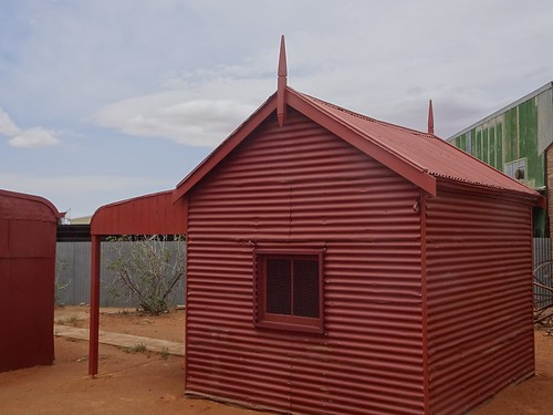 Broken Hill. The anter room of the 1891 mosque. Built on or near the cameleers camp. DIsused and then restored by the Historical Society in 1968. Now a museum.