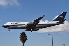 British Airways BOAC Retro Livery 747-436 (G-BYGC) LAX Approach 5 (hsckcwong) Tags: britishairways 747436 747400 7474 gbygc boacretrolivery lax klax