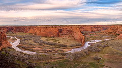 Canyon de Chelly (garshna) Tags: arizona canyondechelly canyon river sky clouds trees landscape nature navajo