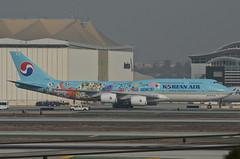 Korean Air 11th Korean Air Future Artist Olympiad Livery 747-8B5 (HL7630) - LAX Taxiway C  (2) (hsckcwong) Tags: koreanair 7478b5 747800 7478 747 11thkoreanairfutureartistolympiadlivery hl7630 lax klax