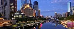 Yarra Melbourne (DaveFlker) Tags: melbourne skyline yarra river blue hour panorama panoramic pano