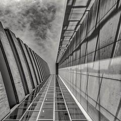 Skyscraper Berlin (andreasscharr) Tags: berlin deutschland tamronsp2470f28 blackwhite schwarzweis hochhaus skyscraper sky black einfarbig monochrom germany city architecture architektur