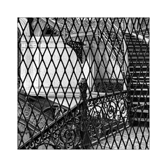photographers in prison (Armin Fuchs) Tags: arminfuchs yangon rangoon myanmar burma fence naturallayer staircase photographer square ministersoffice hff