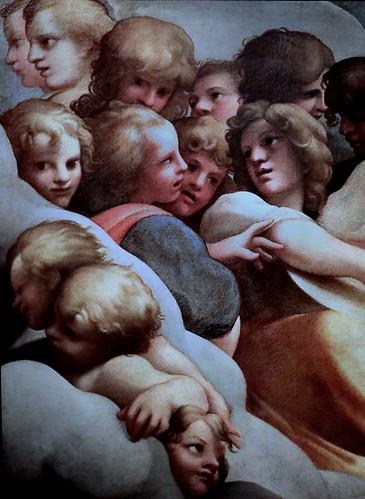 IMG_5885 Annibale et Agostino Carraci (1560-1609 1557-1602) Bologne Groups of angels (Copie from Il Corregio ) Galleria Nazionale di Parma
