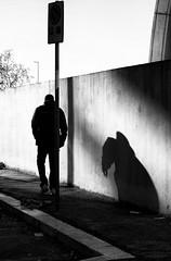 L'ombra di se stesso... (photograph61) Tags: ombra muro uomo