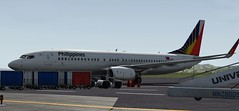 b738 - 2019-11-13 00.32.24 (Rell Brown) Tags: xp11 xplane qantas miamiair 737ng 737800 phillipine air lines phillipines reno american airlines southwest