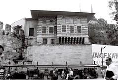 Sultan's Pavilion (n.okyayli) Tags: istanbul blackandwhite bw people house outside canon film analog 35mm ilford momchrome pavilion