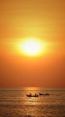 The right time to fish (leewoods106) Tags: sunset orange beautifulsunset warmsunset fisherman fishermen fishingboat fishingboats boat boats sun sunshine phangnga khaolak thesandskhaolak thailand souththailand asia southeastasia east fareast