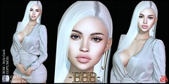 ~BBB~ CACIA Shape - BoM - GENUS - Classic Face. (Dannon Rain) Tags: genus face shape baby classic strong babyface classicface strongface body skin eyes hair sl secondlife lips curly straight curvy slim bom bakesonmesh catwa catya lona