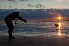 Smile on Saturday (jillyspoon) Tags: smileonsaturday pets peopleandpets sunset sunsetdog