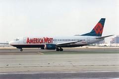 N328AW Boeing 737-300  Los Angeles (liekwxtt43) Tags: klax lax n328aw boeing b737