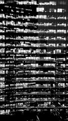 New York - Friday night (Yuri Dedulin) Tags: new york city yuri dedulin night light streets illuminated windows bw blackandwhite monochrome urban newyork building ngc ny