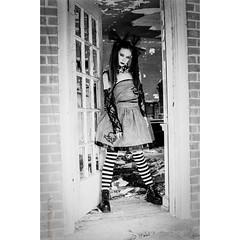 """Come Play... at Your Own RISK!!"" Monster High Doll (NaJo73) Tags: abandonedplaces abandoned blackandwhitephotography kodak kodakfilm minoltagang minolta minoltafilmcamera filmphotography film model spooky livingdoll monsterhigh monsterhighdoll"