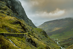 The Pass (Wez1200) Tags: cumbria lakedistrict honister pass mountains mountain stormy landscape nikon d850 uk path road