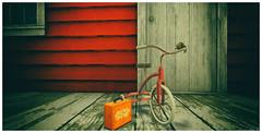 7 Years (larisalyn (Rachel)) Tags: bike tricycle vintage blackandwhite memories growingup secondlife