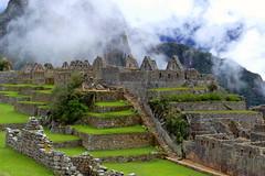 Perù - inca Sacred Valley (oriana.italy) Tags: perù incasite archaeology drystone terraces andesmountain clouds cuzcoregion urubambavalley waynapicchumt zweia sacredvalleyofinca