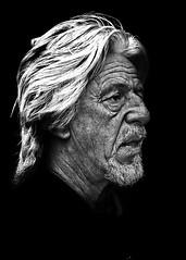 Portrait (D80_547436) (Itzick) Tags: candid bw bwportrait whitehair man matureman portrait face facialexpression streetphotography denmark d800 itzick
