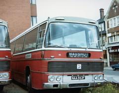 ALDER VALLEY .  Duple AEC Reliance  46  NAA563F .  Woking Garage (lpharris464) Tags: alder valley naa563f duple aec reliance nbc woking bus garage
