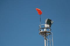 Viento Norte (Ce Rey) Tags: minimalismo minimalism sky cielo cieloazul bluesky orange naranja wind mangadeviento viento conodeviento windsock anemoscopio