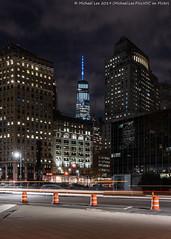 Foley Square (20191114-DSC09167-Edit) (Michael.Lee.Pics.NYC) Tags: newyork centrestreet night longexposure lighttrails street architecture cityscape lowermanhattan foleysquare wtc worldtradecenter empirestatebuilding sony a7rm4 fe24105mmf4g