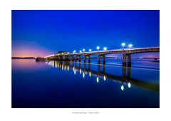 A4 Frame - white border 02 (iBriphoto) Tags: alloaharbour blue nightphotography bluehour river stirlingcastle twilight stirling riverforth theshore evening alloa reflection harbour