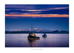 A4 Frame - white border 03 (iBriphoto) Tags: alloaharbour blue nightphotography boat bluehour river stirlingcastle twilight stirling riverforth theshore fishingboat evening alloa reflection harbour