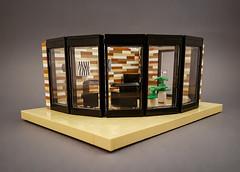 Curry House MOC. Livingroom module. (betweenbrickwalls) Tags: lego afol moc wip living livingroom house module