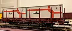 Roco H0 76962 (1) (Rinus H0) Tags: modeltrains modelrailways modelleisenbahn modelspoor modeltreinen roco h0 76962 rongen wagen wagon nedlloyd 20 20ft container scale 187