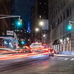 Centre and Broome (20191114-DSC09189) (Michael.Lee.Pics.NYC) Tags: newyork centrestreet night longexposure lighttrails street architecture cityscape soho esb empirestatebuilding sony a7rm4 fe24105mmf4g