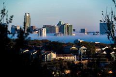 Frozen foggy morning (gabetakesphotos) Tags: skyline winter austin texas views fog dawn morning freezing crisp towers architecture 512 city cityscape weather fall cold