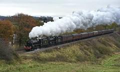 The Christmas Cheshireman (wwatfam) Tags: stanier black five mixed traffic steam locomotives trains railways railroad transport shrewsbury shropshire salop england britain