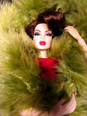 Opulent (Nickolas Hananniah) Tags: ignite itbeignite janay feathers greenred face toy doll fashiondoll fashionroyalty fashionroyaltydoll fashionroyaltyitbeignite collectabledoll redhead nails model fashion portrait