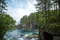 Cape Flattery - Northwestern Tip Of The Pacific Northwestern United States - Washington - September 2019 (Chad Baxter) Tags: cape flattery landscapes pacific northwest water trees ocean waves splash cloudy nature cool olympic national park nikon 2485mm g rain moss pines rocks stone plants d850 beautiful serene