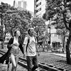 ikebukuro, japan (michaelalvis) Tags: asia bw blackandwhite buildings backpack candid city citylife pedestrian fujifilm flickr fujicolor friends ikebukuro japan japon japanese japanesesigns monochrome mono nihon nippon peoplestreet portrait people peoplestreets photography parasol streetphotography streetlife street signs travel tokyo tourists urban umbrella woman walking x70