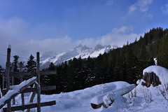 DSC_0215 (Bergwandern Alpen) Tags: alpen alps bergwandern hiking gamperdunerwald schnee snow winterlandschaft schneelandschaft winterlandscape zaun fence glarneralpen wolken wolkenspiel grosschärpf blistock clouds zugeschneit