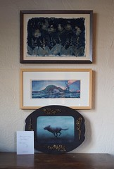 Bottom to Top: Mab Graves, The Dire Wolf (Oil Study). Andy Farkas, Embrace The Fish (Japanese Woodblock print); Therese Brown, Lily of the Valley (Cyanotype) (Sivyaleah (Elora)) Tags: mab graves dire wolf oil study pop surrealism andy farkas embrace fish japanese woodblock print therese brown lily valley cyanotype photography