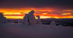 Levi--3 (ikkasj) Tags: lappi lapland finland colorful picturesque kittilä snow sunset winter levi