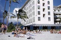 Moana Hotel Restaurant 1952 (Kamaaina56) Tags: 1950s waikiki hawaii moana hotel beach restaurant slide