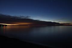 golden spotlight (~Jim Peacock~) Tags: dusk lakesuperior apostleislands nature stars november wisconsin sunset