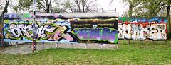 Graffiti in Haarlem (wojofoto) Tags: haarlem hetlandje legalwall halloffame orbit wamor weemoed wmoed graffiti streetart nederland netherland holland wojofoto wolfgangjosten