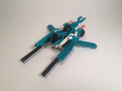 Vic Slizer (NoVVember) (MySnailEatsPizza) Tags: lego bionicle throwbot slizer vic viper vv novvember moc custom spaceship speeder