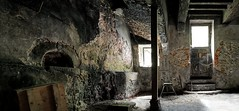 Old Bread Oven located in a Medieval Stone House (Keres Jasminka) Tags: medieval old oven soot abandoned architecture wall stone historical memory legacy beam folklore tradition ruin dark vintage midelage