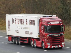 D Steven & Son Wick, Scania S580 (SK18LVG) On The A1M Northbound (Gary Chatterton 7 million Views) Tags: dstevenson wick scotland scaniatrucks scanias580 sk18lvg trucking wagon lorry haulage distribution logistics flickr canonpowershotsx430 photography