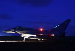 ZK341 @ Night (np1991) Tags: royal air force raf lossiemouth lossie moray scotland united kingdom uk nikon digital slr dslr d7200 camera nikor 18140mm lens night eurofighter typhoon fgr4 2 two ii squadron sqn