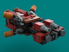 Waler Class MKII Frigate 'Burning Tiger' (The Hydromancer) Tags: terran union solar lego micro fi sci space ship frigate orbit intercept zero frame mobile namofrafarmo