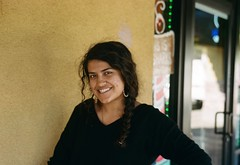 My extroverted friend (poavsek) Tags: smile film kodak portra400 6x9 medalist ektar100mm india