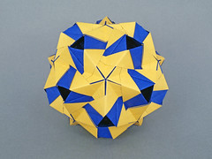 Leda (masha_losk) Tags: kusudama кусудама origamiwork origamiart foliage origami paper paperfolding modularorigami unitorigami модульноеоригами оригами бумага folded symmetry design handmade art